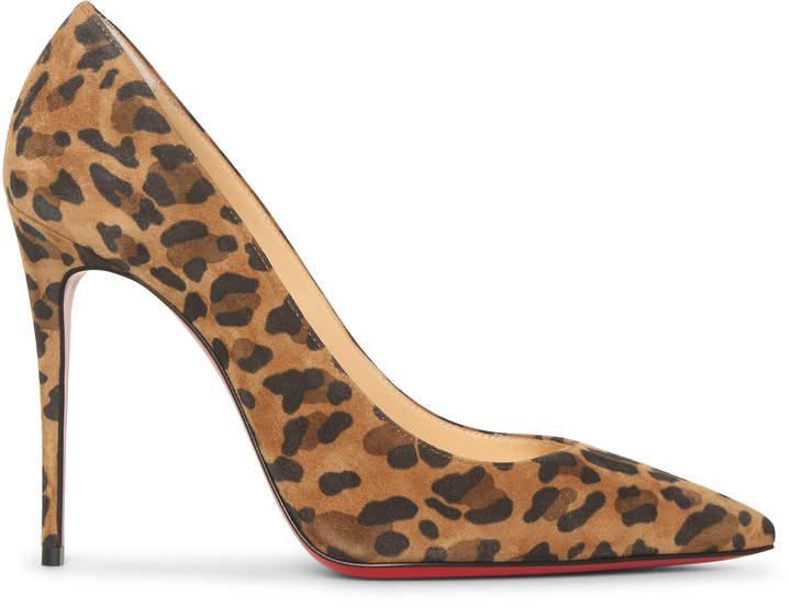 best service af863 acb0a Kate 100 suede leopard pumps