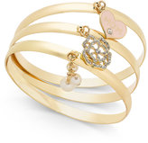Charter Club 3-Pc. Set Mom Charm Bangle Bracelets, Only at Macy's