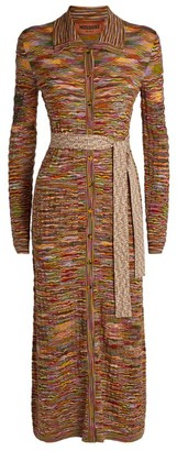 Missoni Patterned Belted Maxi Cardigan