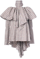 Rosie Assoulin checkered ruffled blouse - women - Cotton/Spandex/Elastane/Viscose - S