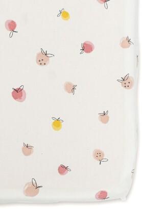 Pehr Strawberry Fields Organic Cotton Crib Sheet