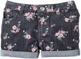 Sears Little Girls' Printed Denim Shorts