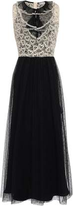 RED Valentino Guipure Lace-paneled Point D'esprit Midi Dress