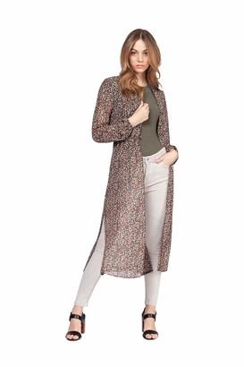 Dex women's 1623263 Long Sleeve Button Front Midi Length Blouse