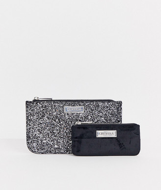Carvela 2 pack pouch gift set in silver