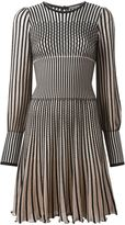 Alexander McQueen stripe knit dress - women - Silk/Polyamide/Spandex/Elastane/Metallic Fibre - XS