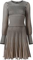Alexander McQueen stripe knit dress
