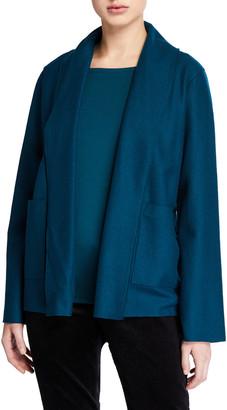 Eileen Fisher Boiled Wool Jersey Kimono Jacket