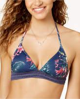 Roxy Arizona Dream Printed Crochet-Trim Halter Bikini Top Women's Swimsuit