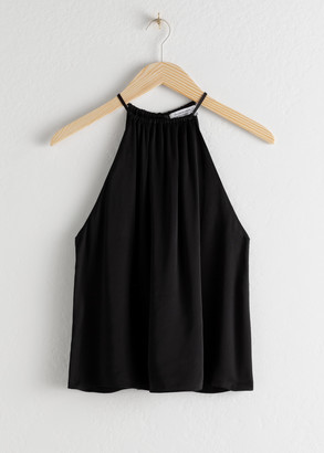 And other stories Halter Tie Back Tank Top