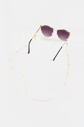 francesca's Charlette Convertible Sunglasses & Face Mask Chain - Gold