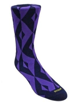 Duchamp London Men's Geometric Design Dress Sock