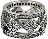 King Baby Studio Wide Band Ring w/ MB Cross and CZ Ring