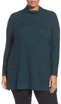 Sejour Plus Size Women's Mock Neck Rib Knit Tunic