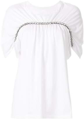 Christopher Kane oversized chain trim T-shirt