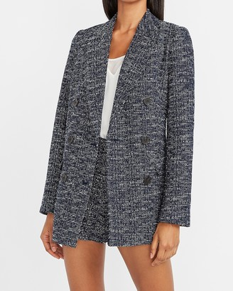 Express Double Breasted Boucle Blazer