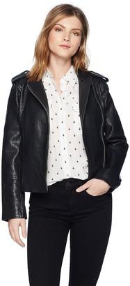 BB Dakota Women's Mathew Leather Moto Jacket