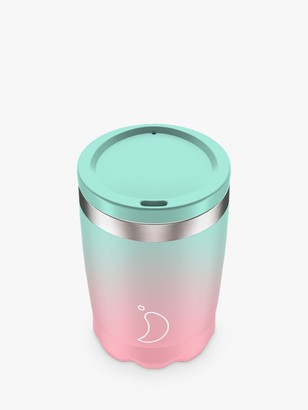 Chilly's Double Walled Insulated Travel Mug, 340ml, Pastel Ombre