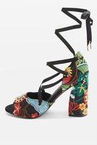 Rhapsody embroidered heeled sandals