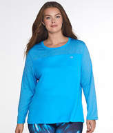 Champion Plus Size Vapor Powertrain Heathered Tee, Activewear - Women's