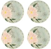 Fitz & Floyd Set of 4 Toulouse Round Appetizer Plates - Blue