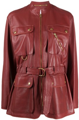 Escada Sport Belted Leather Jacket