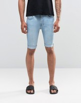 Religion Damned Denim Shorts