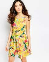 Iska Skater Dress in Floral Hummingbird Print