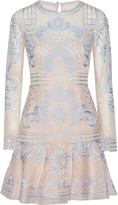 Temperley London Delphia embroidered tulle and silk-blend organza mini dress