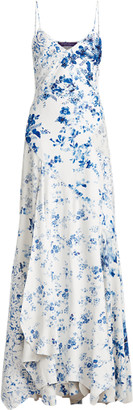 Ralph Lauren Kourtney Floral Leather Dress