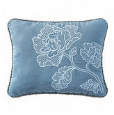 Waterford Blossom Floral-Embroidered Sateen Pillow