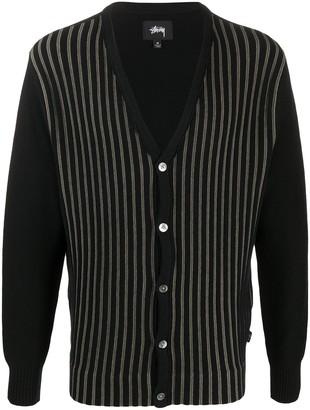 Stussy Striped Knit Cardigan