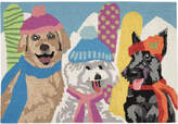 "Liora Manné Front Porch Indoor/Outdoor Ski Bunnies Multi 2'3"" x 6' Runner Rug"