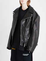 Vetements Emo oversized leather biker jacket