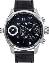 JBW G3 Mens Diamond-Accent Black Leather Strap Watch J6325C