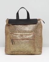 Asos BEACH Glam Metallic Weave Backpack