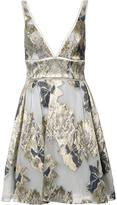 Marchesa floral print flared dress - women - Acrylic - 10