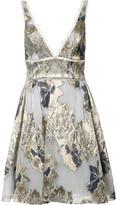 Marchesa floral print flared dress - women - Acrylic - 8