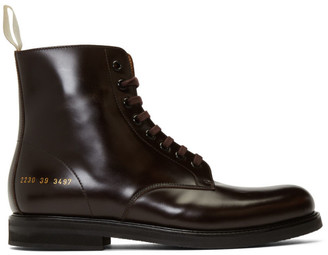 Common Projects Burgundy Standard Combat Boots