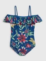 Gap Floral Ruffle Swim One-Piece