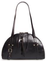 Hobo Beckon Calfskin Leather Satchel - Black
