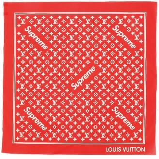Louis Vuitton Square Scarf Limited Edition Supreme Monogram Cotton
