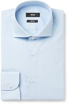 Hugo Boss - Blue Slim-fit Cutaway-collar Cotton Shirt