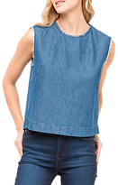Lee Sleeveless Denim Top, Washed Blue
