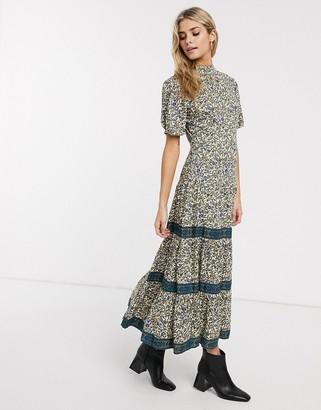 Miss Selfridge midi smock dress in floral print