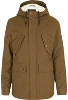 River Island Light Brown Hooded Jacket