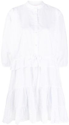 See by Chloe Tiered Puff-Sleeved Short Dress