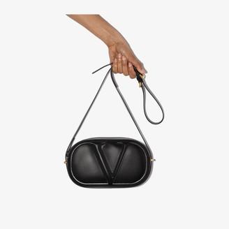Valentino black VLOGO leather camera bag