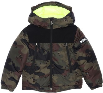Moncler Pareloup Camouflage Print Down Jacket