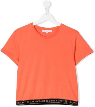 Givenchy Kids TEEN logo hem T-shirt